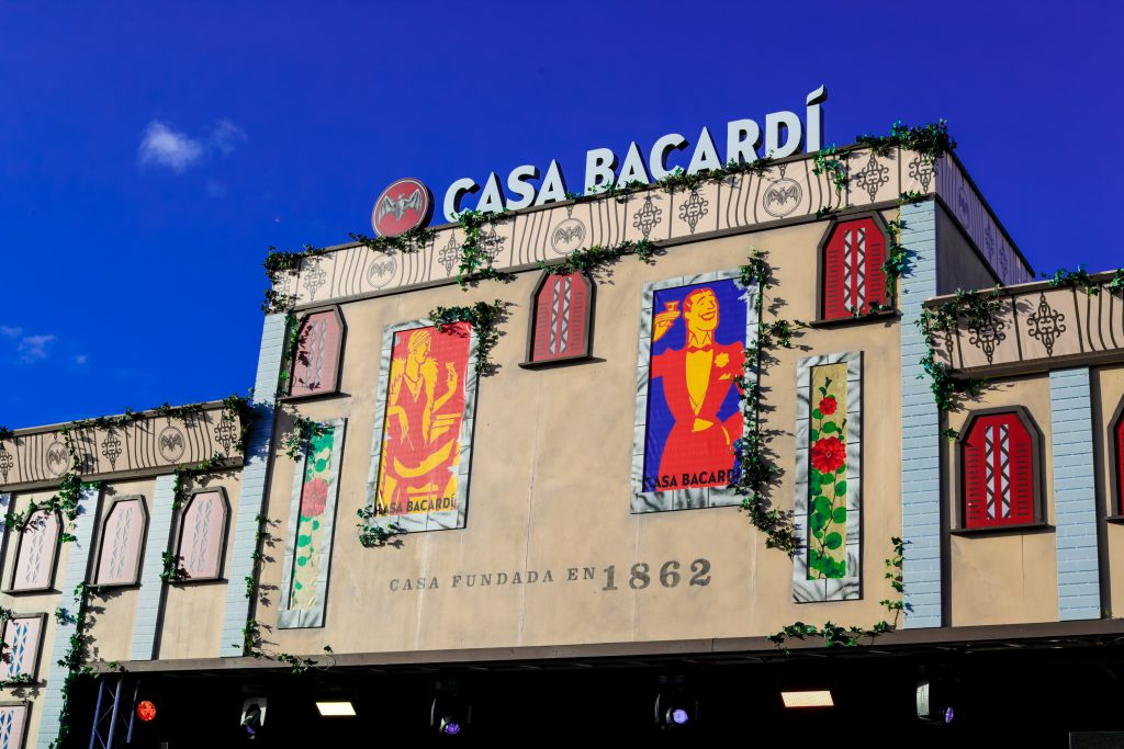 Artificial Ivy hired to set dress Casa Bacardi building
