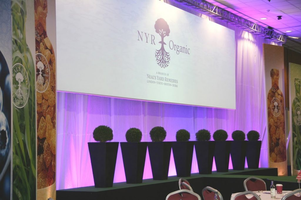 Corporate hire of topiary balls for NYR