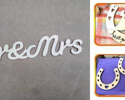 Hire props laser cut signs letters symbols
