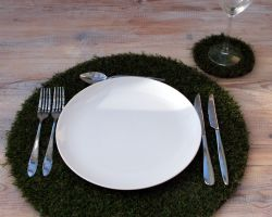 Hire circlular shaped table placemat & coaster