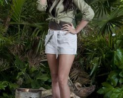 Jungle props and plants photo shoot with Stacey Solomon, I'm a Celebrity