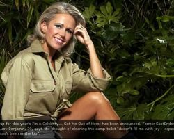 Jungle photo shoot with Lucy Benjamin, I'm a Celebrity