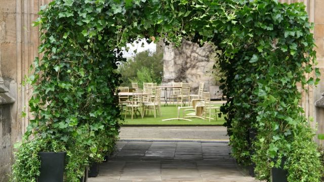 Ivy arch walkway