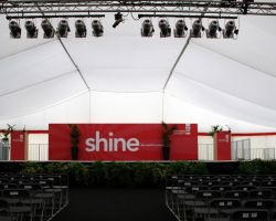 Stafford University hired Kentia palms for their awards ceremony stage