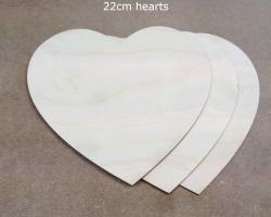 Hire props 22cm lazer cut hearts