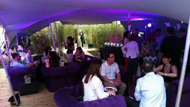 Olympic VIP area hired bamboo screens