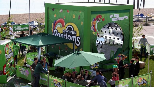 Rowntrees Randon's touring promo featuring various hired greenery