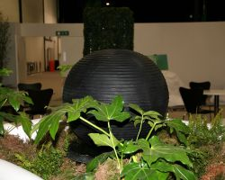Greenery hire prop a water feature with inbuilt LED lighting