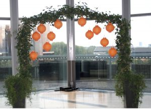 Ivy arch for a wedding ceremony