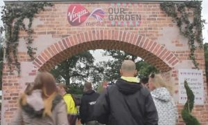 Artificial ivy dressing the entrance of V Fest Our Garden @ Weston Park (Staffordshire) & Hylands Park (Chelmsford)