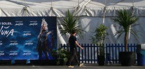 Cirque du soleil @ Trafford Centre Manchester featuring palms