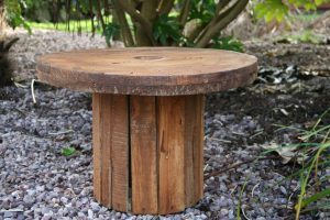 wooden rustic low level table
