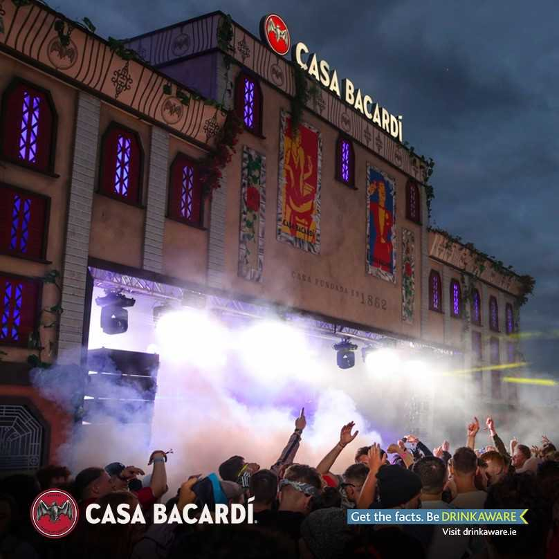 Casa Bacardi stage at the Electric Festival Ireland with artificial Ivy