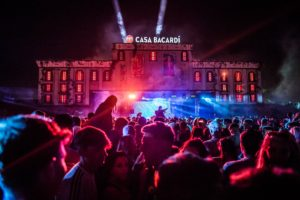 Casa Bacardi stage at the Electric Festival Ireland with artificial Ivy (4)